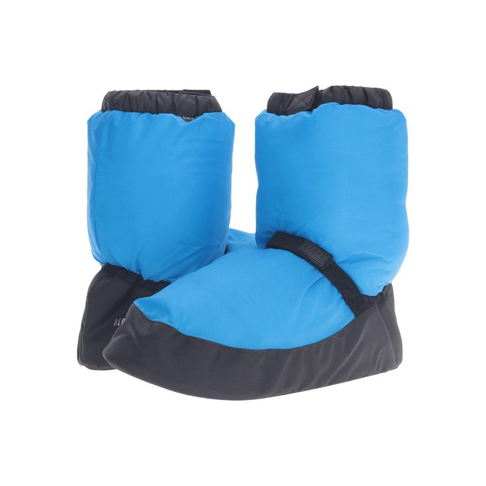 ブロック Bloch レディース スリッパ シューズ・靴【Warm Up Bootie】Blue Fluorescent