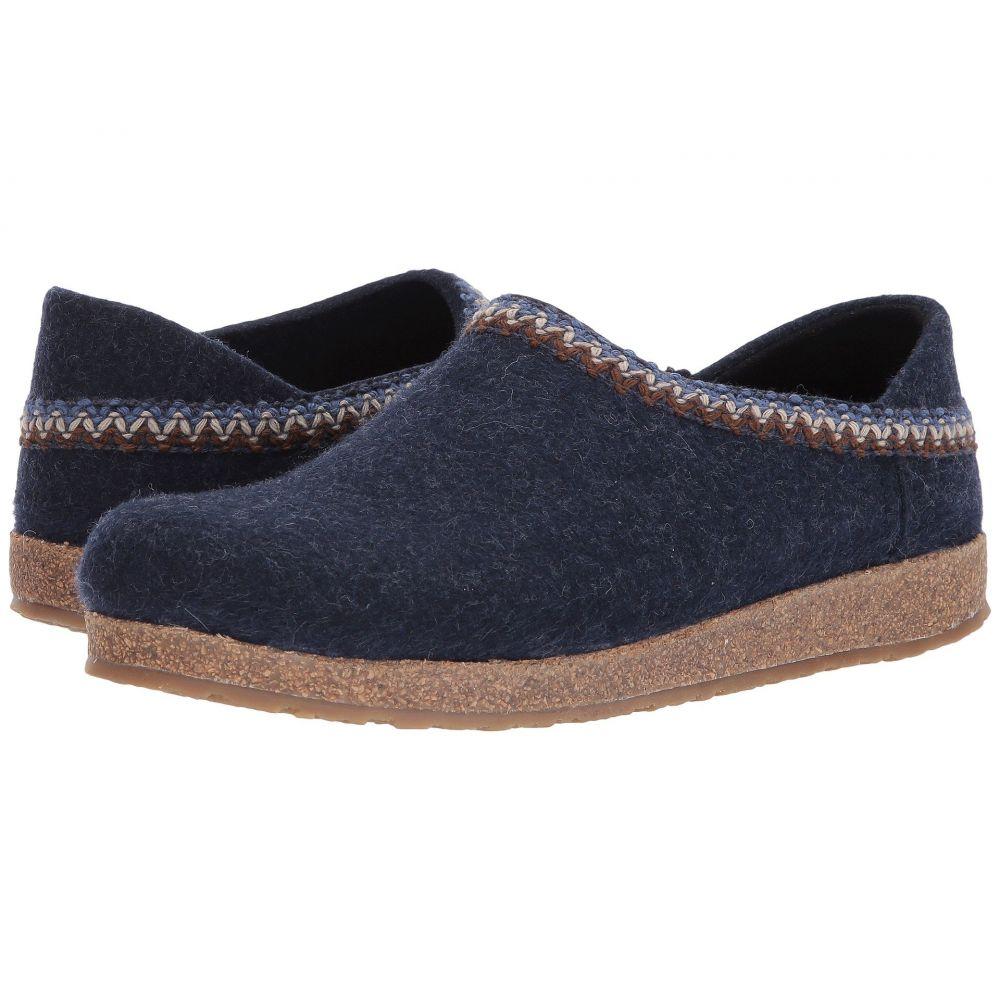 ハフリンガー Haflinger レディース スリッパ シューズ・靴【GZH Zigzag】Blue