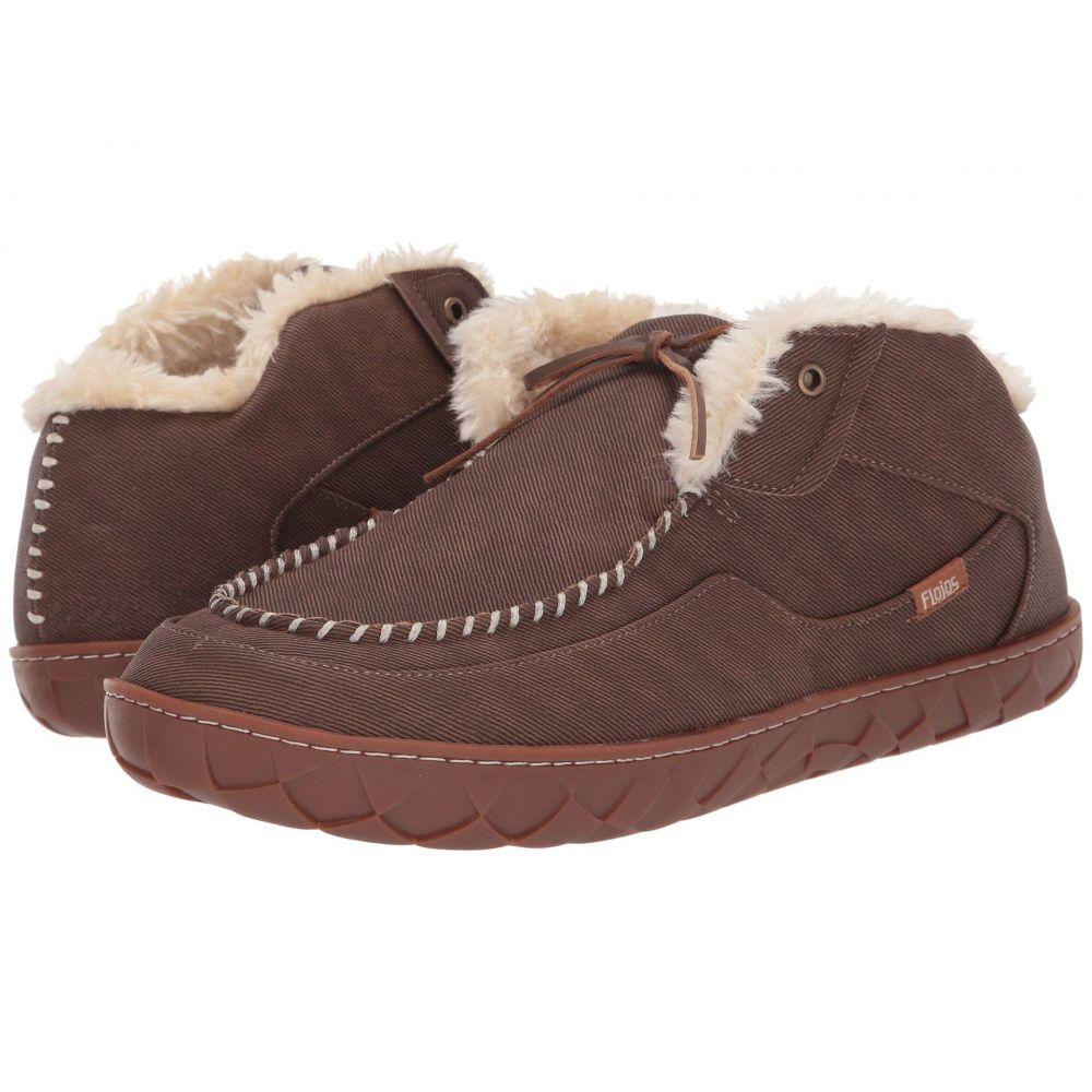 フロジョス Flojos レディース スリッパ シューズ・靴【Tonga Lined Slipper】Brown/Gum