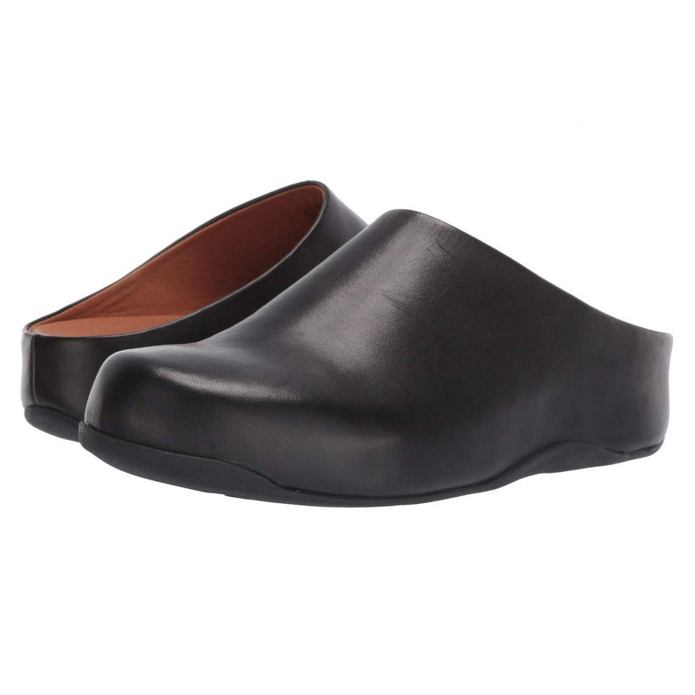 フィットフロップ FitFlop レディース サンダル・ミュール シューズ・靴【Shuv(TM)】Black Leather