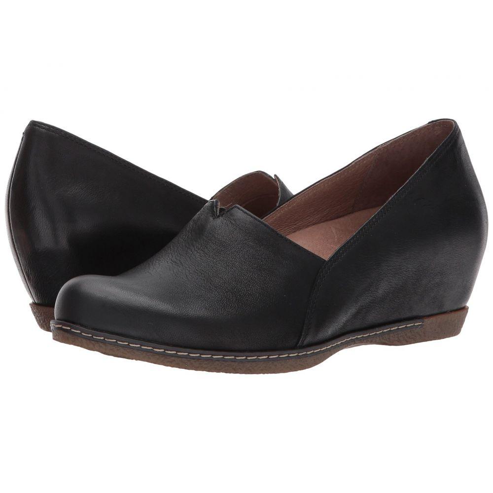 ダンスコ Dansko レディース ローファー・オックスフォード シューズ・靴【Liliana】Black Burnished Nubuck