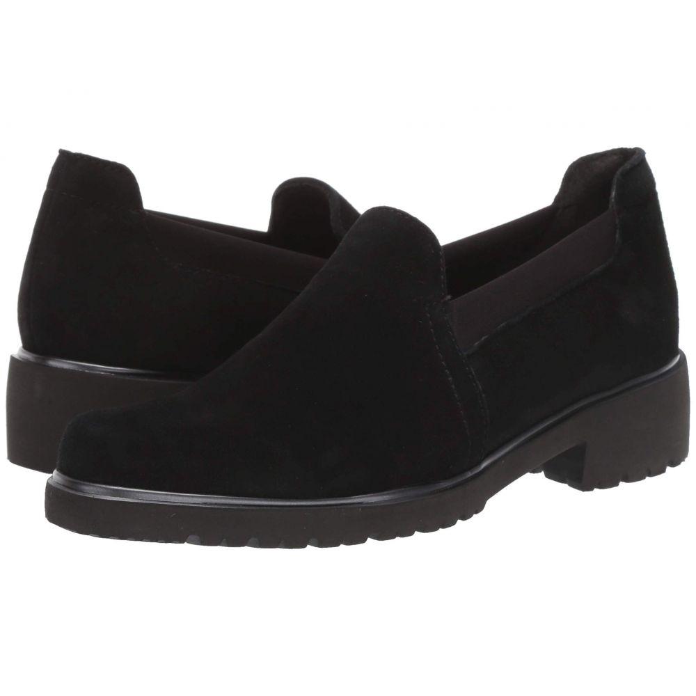 マンロー Munro レディース ローファー・オックスフォード シューズ・靴【Becca】Black Suede