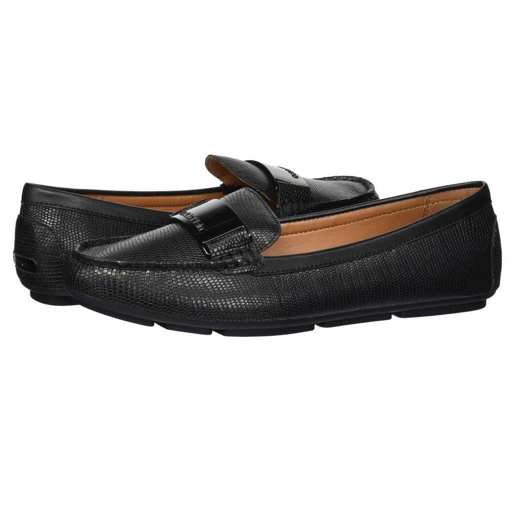 カルバンクライン Calvin Klein レディース ローファー・オックスフォード シューズ・靴【Lisette Loafer】Black Shiny Lizard