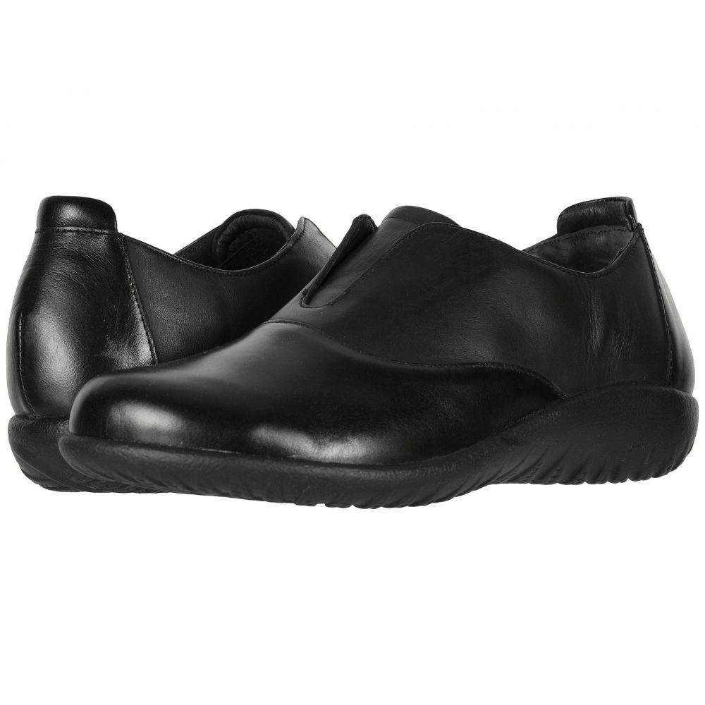 ナオト Naot レディース ローファー・オックスフォード シューズ・靴【Karo】Black Madras Leather/Jet Black Leather