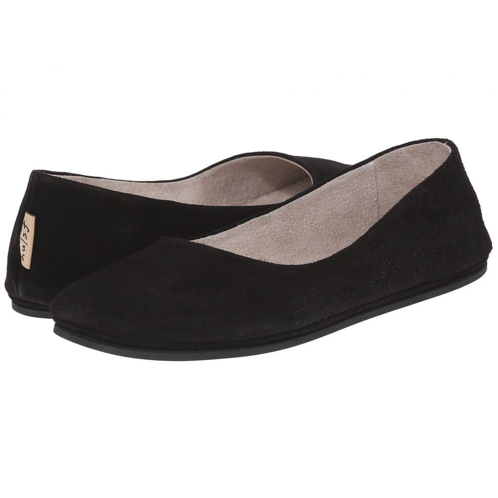 フレンチソール French Sole レディース スリッポン・フラット シューズ・靴【Sloop Flat】Black Suede