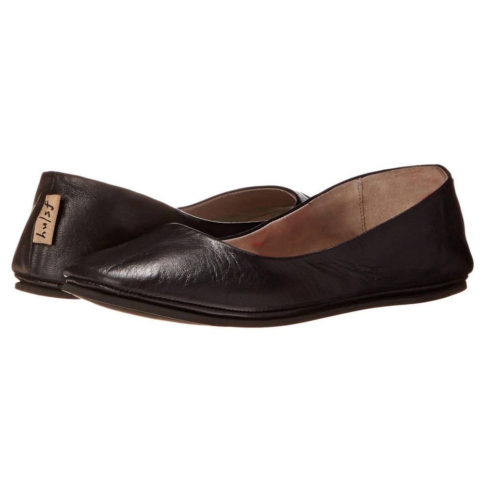 フレンチソール French Sole レディース スリッポン・フラット シューズ・靴【Sloop Flat】Black Nappa Leather