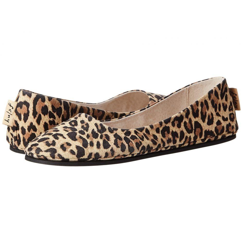 フレンチソール French Sole レディース スリッポン・フラット シューズ・靴【Sloop Flat】Leopard Suede