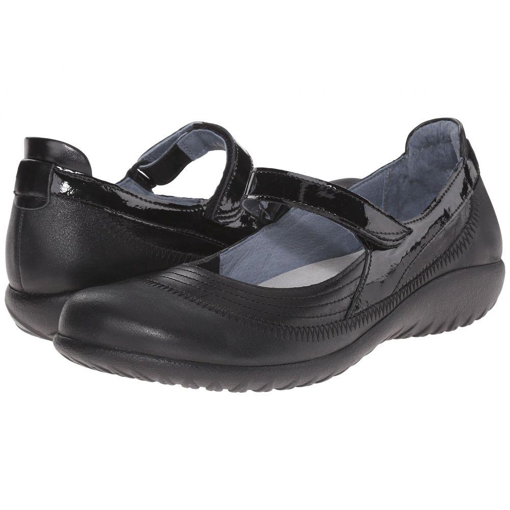 ナオト Naot レディース スリッポン・フラット シューズ・靴【Kirei】Black Leather Combo