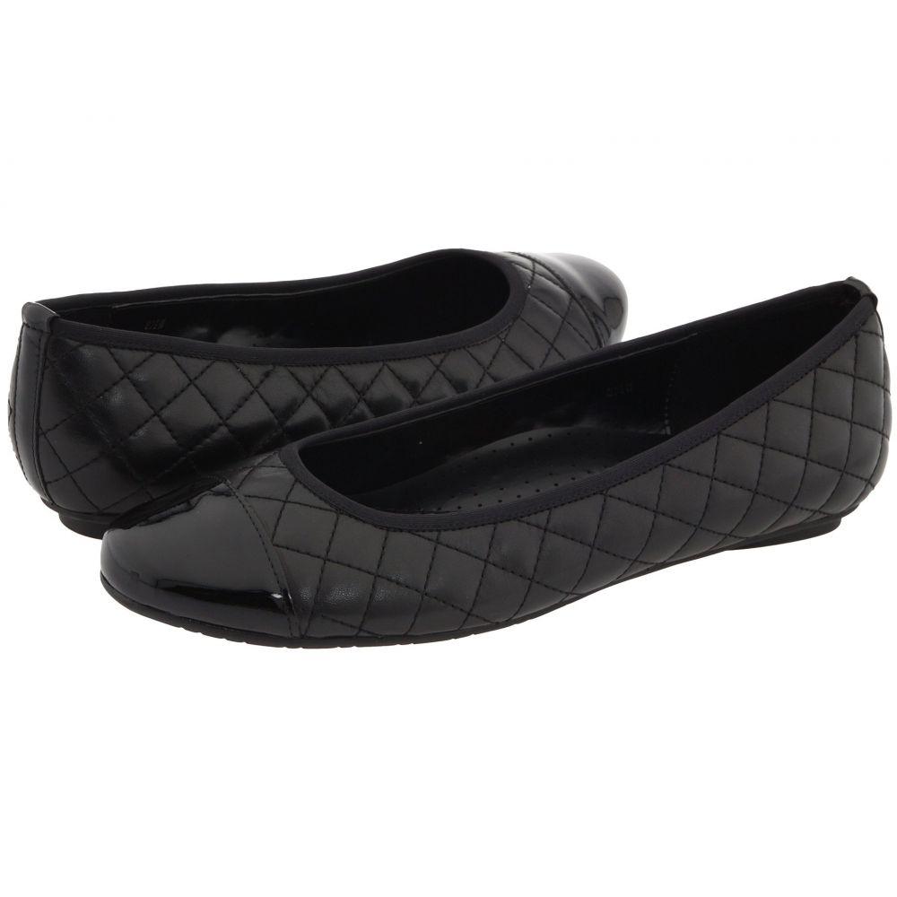 ヴァネリ Vaneli レディース スリッポン・フラット シューズ・靴【Serene】Black Nappa/Black Patent
