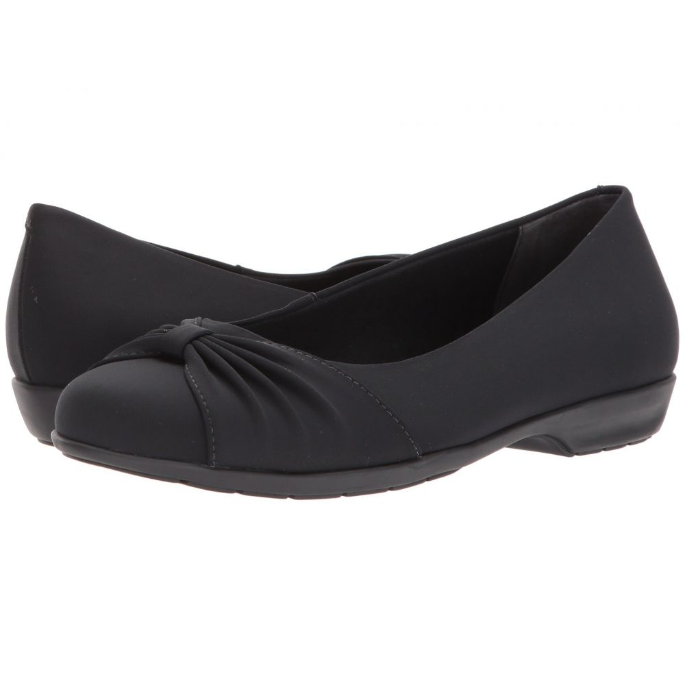 ウォーキング クレードル Walking Cradles レディース スリッポン・フラット シューズ・靴【Fall】Black Stretch Fabric
