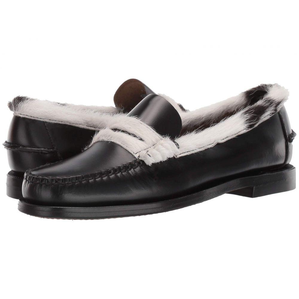 セバゴ Sebago レディース ローファー・オックスフォード シューズ・靴【Dan Cow Collar】Black/White