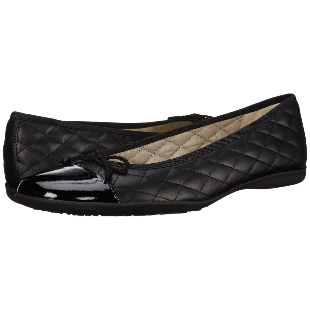 フレンチソール French Sole レディース スリッポン・フラット シューズ・靴【PassportR Flat】Black Patent/Black Leather