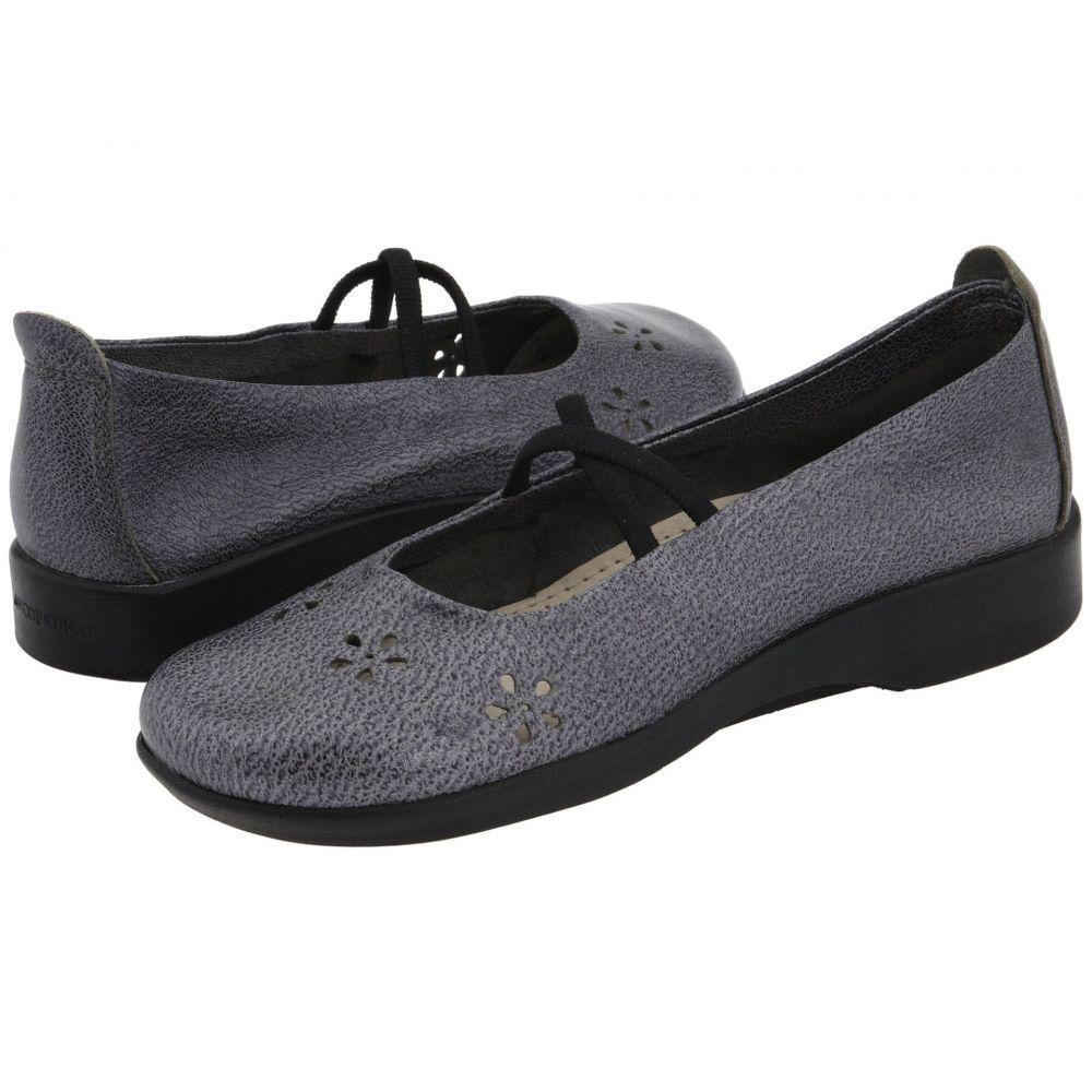 アルコペディコ Arcopedico レディース スリッポン・フラット シューズ・靴【Flower】Pewter Leather