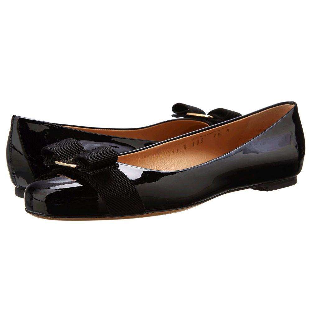 サルヴァトーレ フェラガモ Salvatore Ferragamo レディース スリッポン・フラット バレエシューズ シューズ・靴【Varina Ballet Flat w/ Bow】Nero