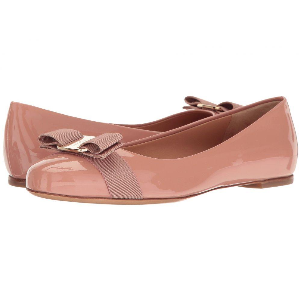 サルヴァトーレ フェラガモ Salvatore Ferragamo レディース スリッポン・フラット バレエシューズ シューズ・靴【Varina Ballet Flat w/ Bow】New Blush Patent