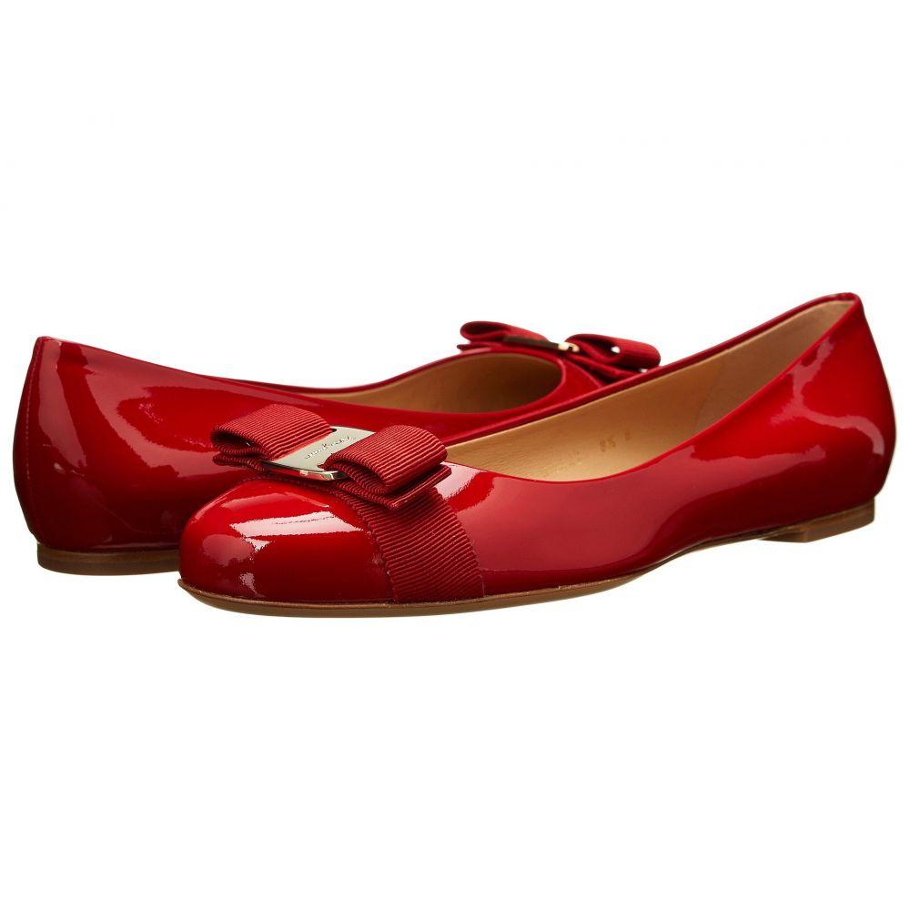 サルヴァトーレ フェラガモ Salvatore Ferragamo レディース スリッポン・フラット バレエシューズ シューズ・靴【Varina Ballet Flat w/ Bow】Rosso