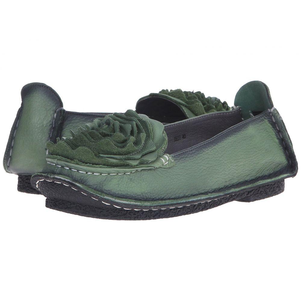 スプリングステップ L'Artiste by Spring Step レディース スリッポン・フラット シューズ・靴【Dezi】Green