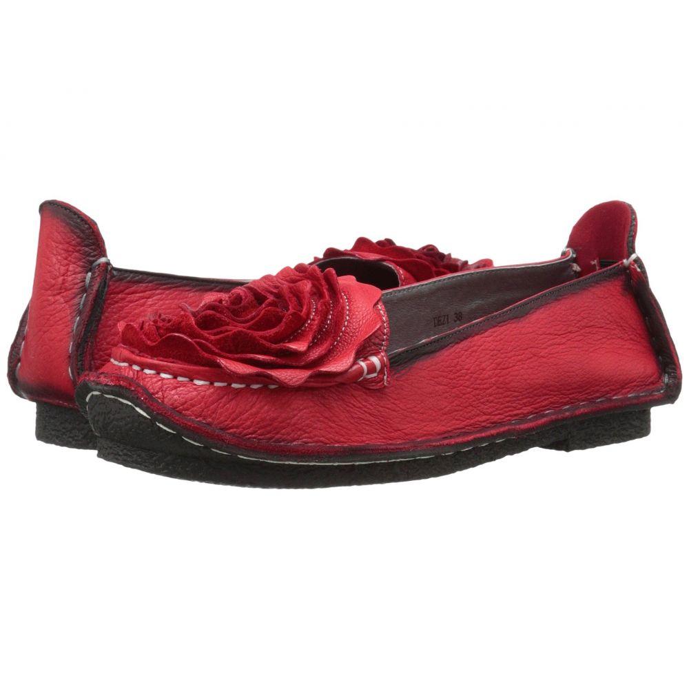 スプリングステップ L'Artiste by Spring Step レディース スリッポン・フラット シューズ・靴【Dezi】Red