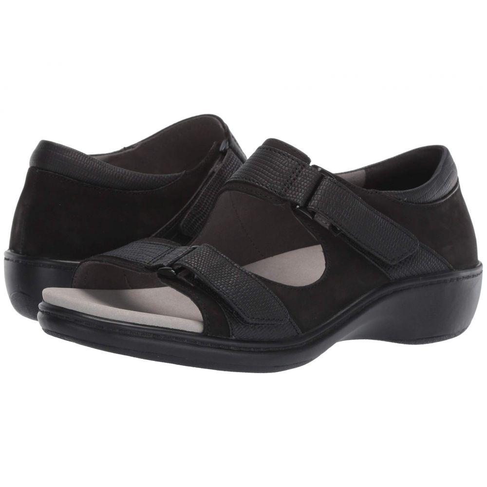 アラヴォン Aravon レディース スリッポン・フラット シューズ・靴【Duxbury Two Strap】Black