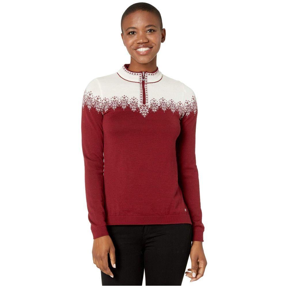 ダーレ オブ ノルウェイ Dale of Norway レディース ニット・セーター トップス【Snefrid Sweater】Ruby Melange/Off-White