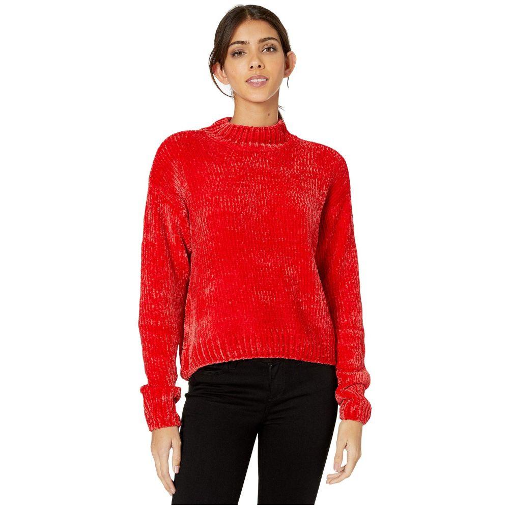 サンクチュアリ Sanctuary レディース ニット・セーター トップス【Chenille Mock Neck Sweater】Party Red