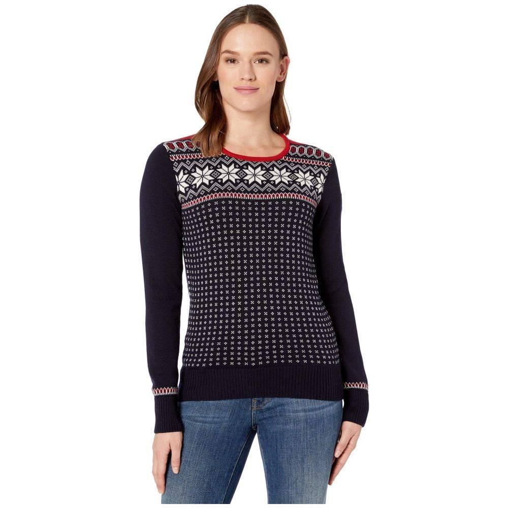 ダーレ オブ ノルウェイ Dale of Norway レディース ニット・セーター トップス【Garmisch Feminine Sweater】Navy/Off-White/Raspberry