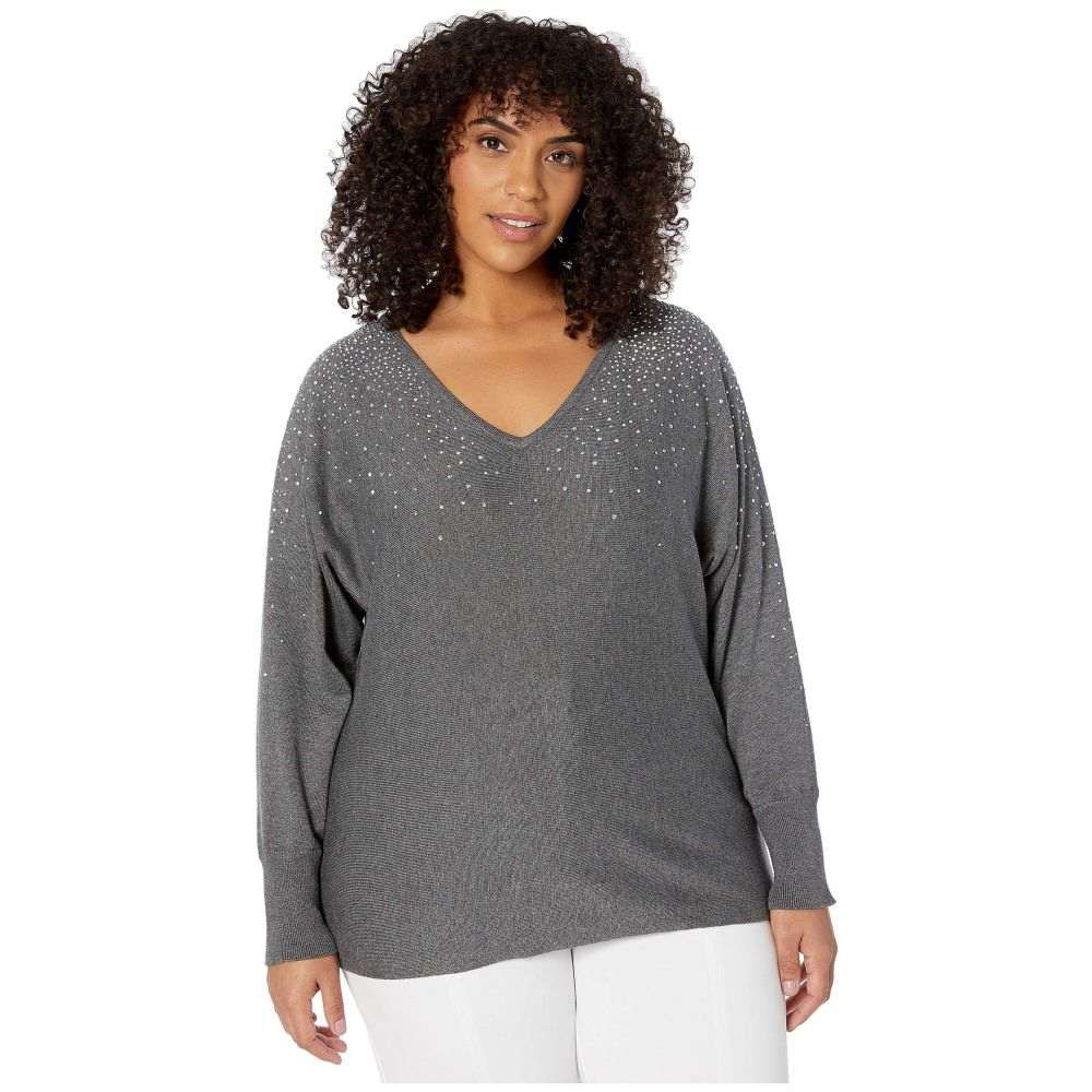 Vince Camuto Women/'s Open Front Cardigan Sweater Sport Chic Black White Size 2X