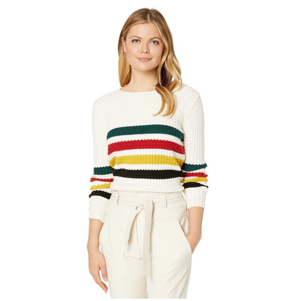 ペンドルトン Pendleton レディース ニット・セーター トップス【Glacier Stripe Merino Sweater】Antique White Multi