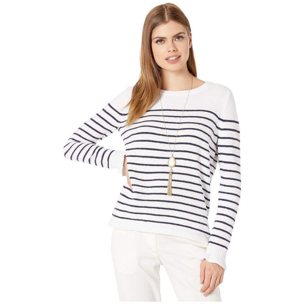 リリーピュリッツァー Lilly Pulitzer レディース ニット・セーター トップス【Calloway Sweater】Resort White Coastal Shell Stripe