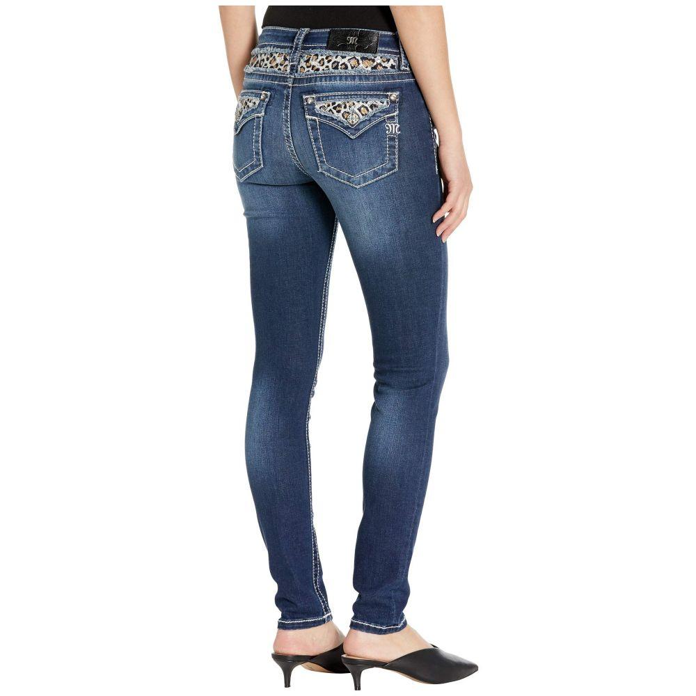 ミス ミー Miss Me レディース ジーンズ・デニム ボトムス・パンツ【Leopard Embellished Skinny Jeans in Dark Blue】Dark Blue