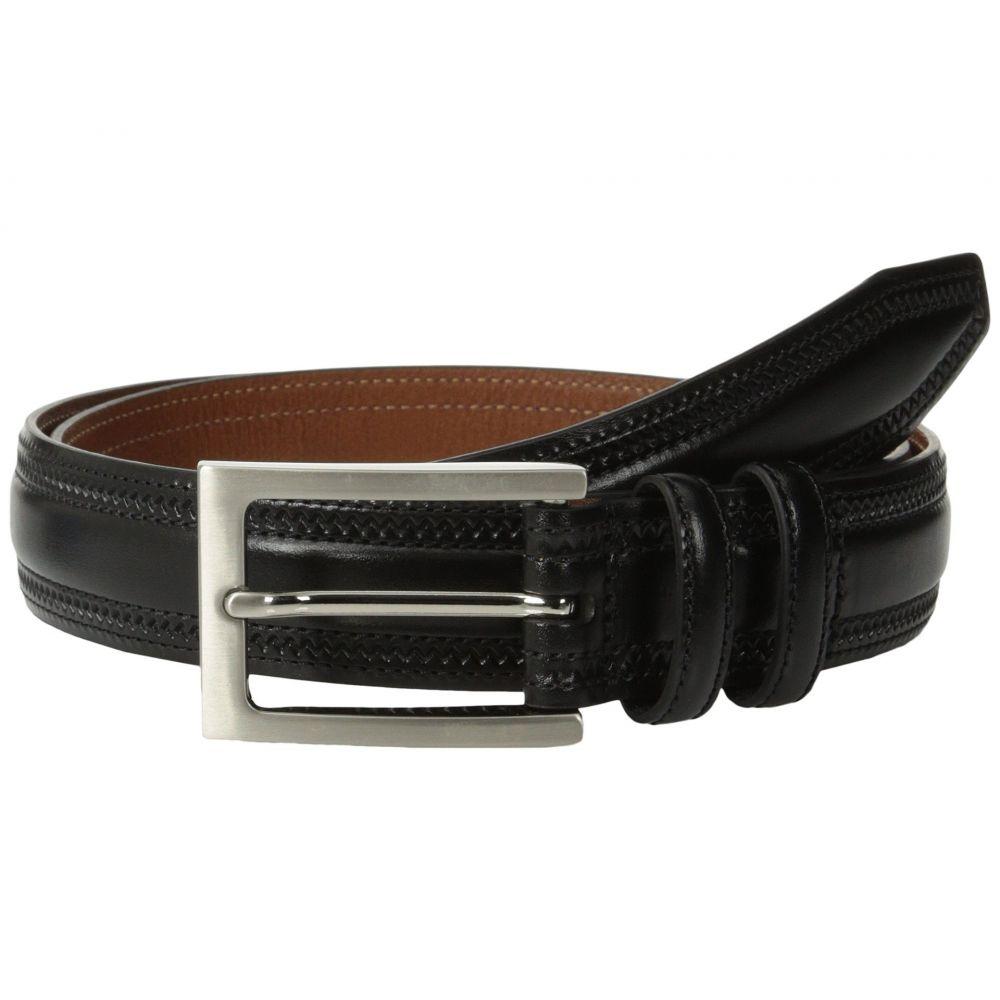ジョンストン&マーフィー Johnston & Murphy メンズ ベルト 【Double-Pinked Belt】Black