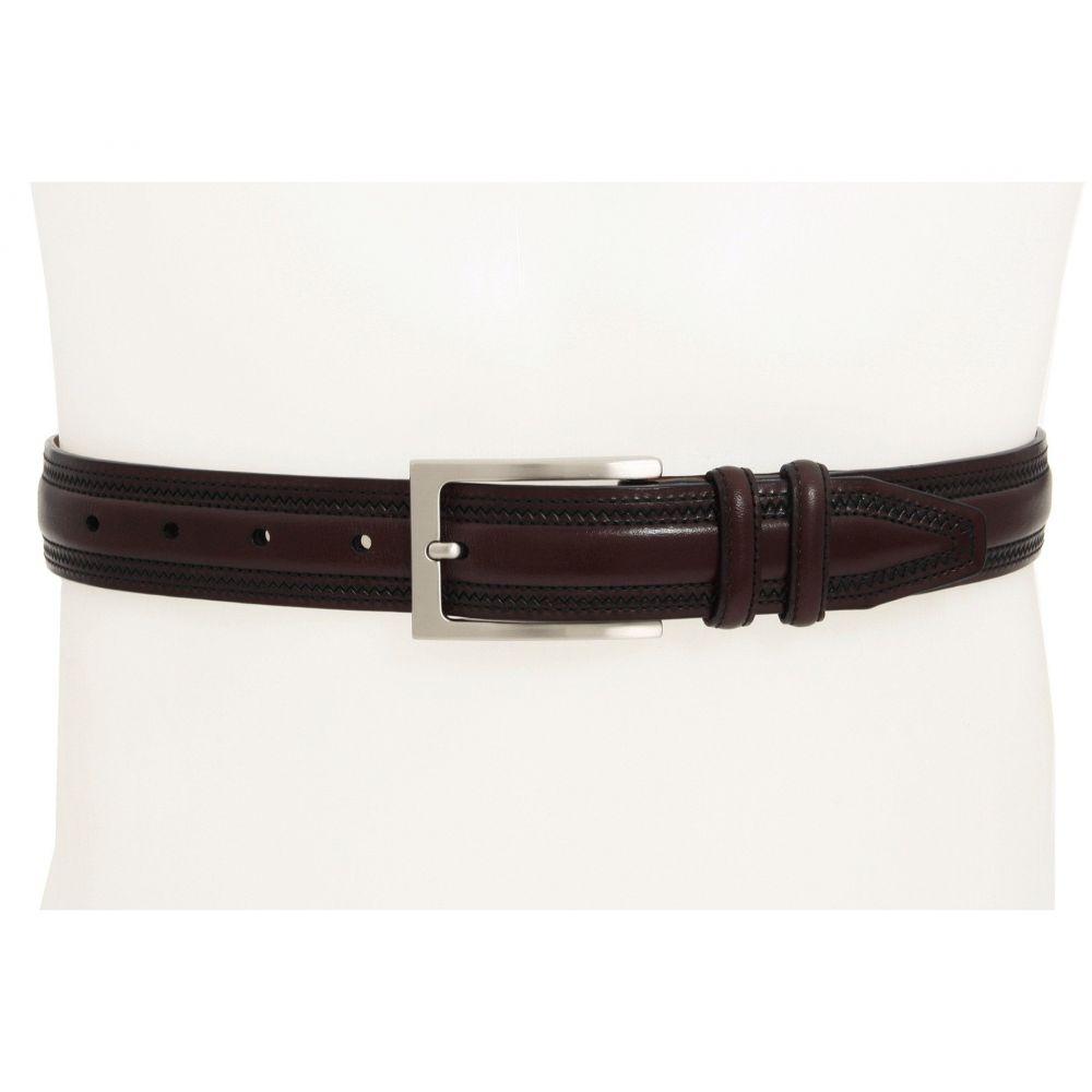ジョンストン&マーフィー Johnston & Murphy メンズ ベルト 【Double-Pinked Belt】Burgundy