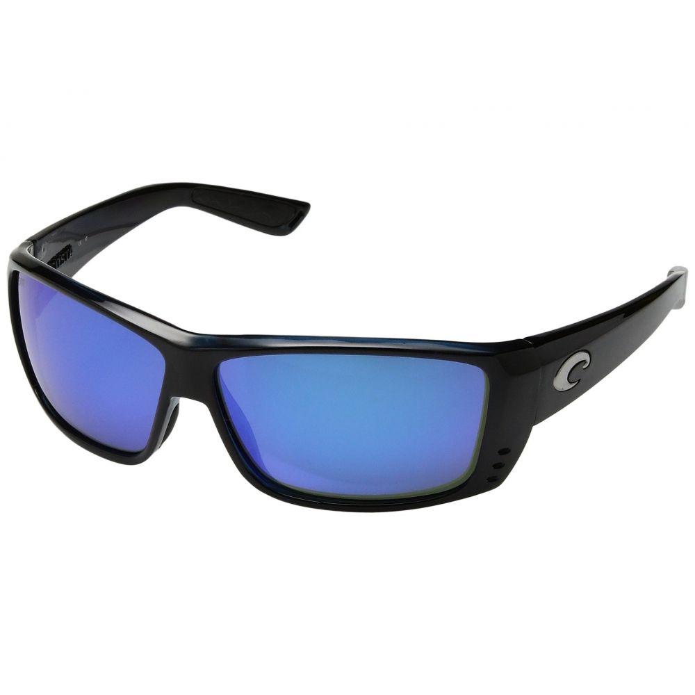 コスタ Costa メンズ メガネ・サングラス 【Cat Cay 580 Mirror Glass】Black/Blue Mirror Glass Lens