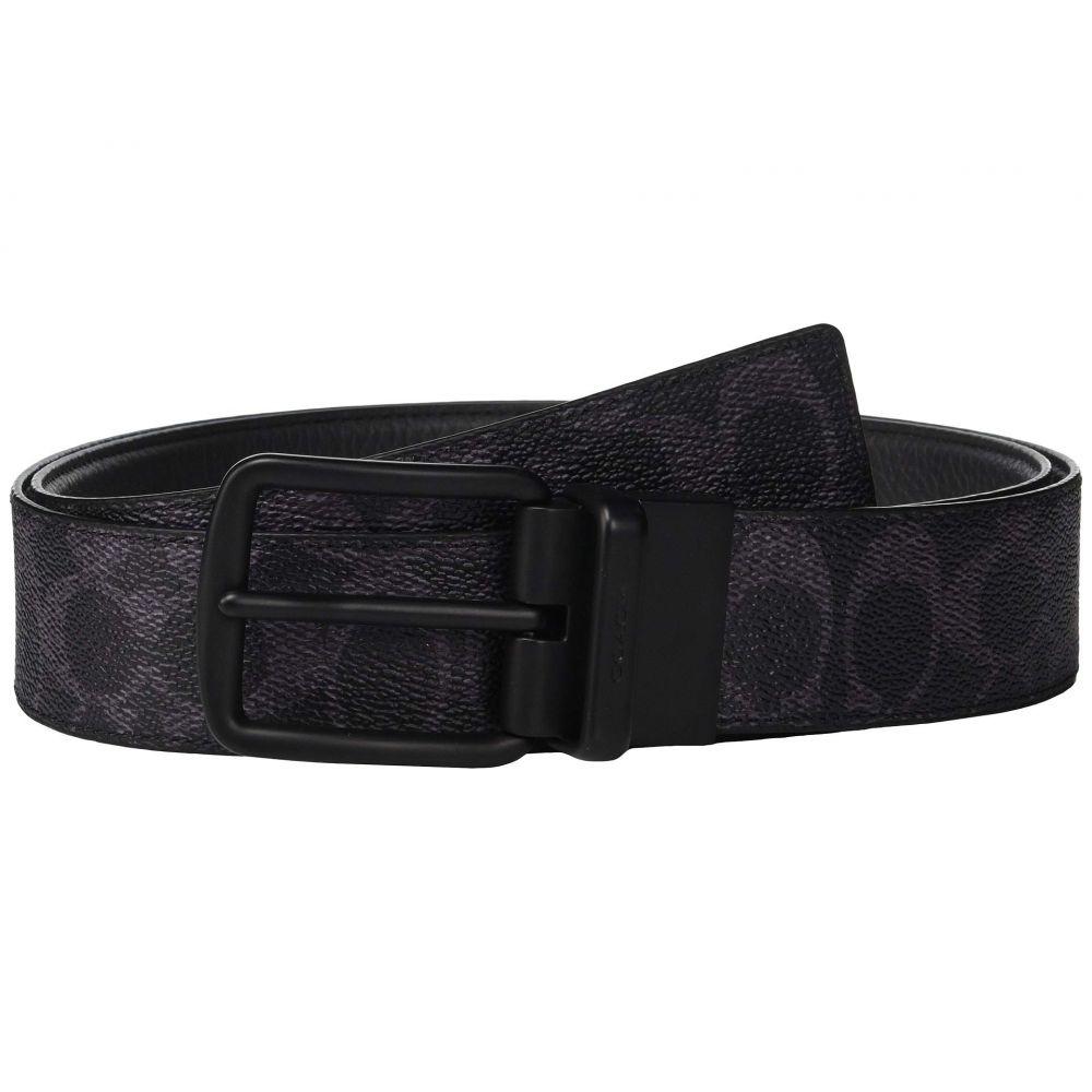 コーチ COACH メンズ ベルト 【Wide Harness Signature Reversible Belt】Blue