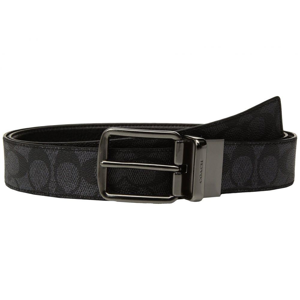コーチ COACH メンズ ベルト 【Wide Harness Signature Reversible Belt】Charcoal/Black