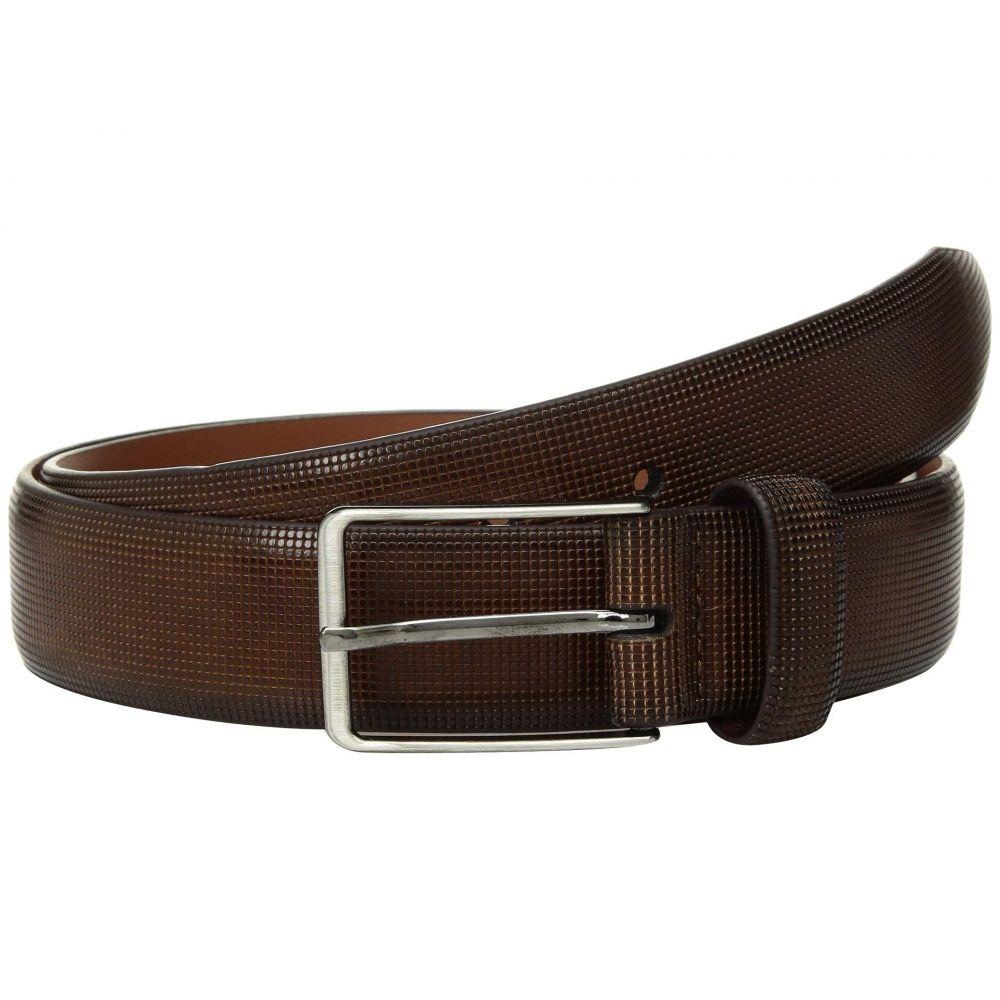 ジョンストン&マーフィー Johnston & Murphy メンズ ベルト 【Mini Embossed Belt】Brown