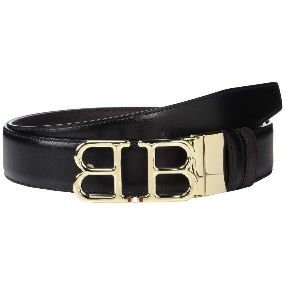 バリー Bally メンズ ベルト 【Adjustable/Reversible Double B Belt】Black/Chocolate