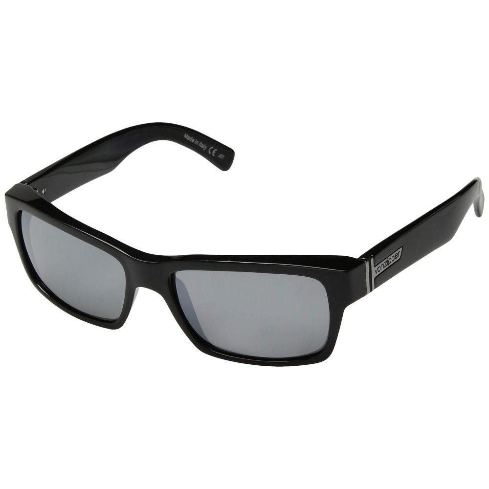 ボンジッパー VonZipper メンズ メガネ・サングラス 【Fulton】Black Gloss Silver Chrome