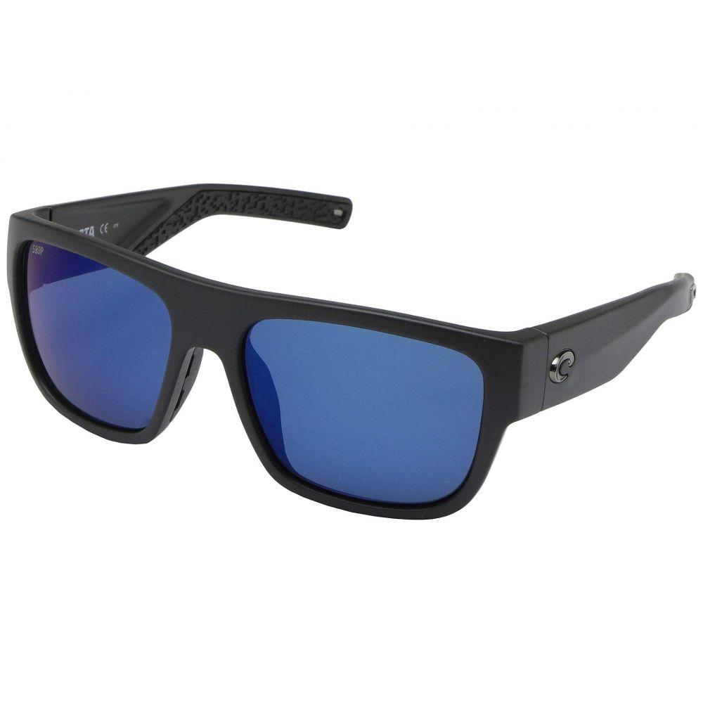 コスタ Costa メンズ メガネ・サングラス 【Sampan】Matte Black Frame/Blue Mirror Lens P