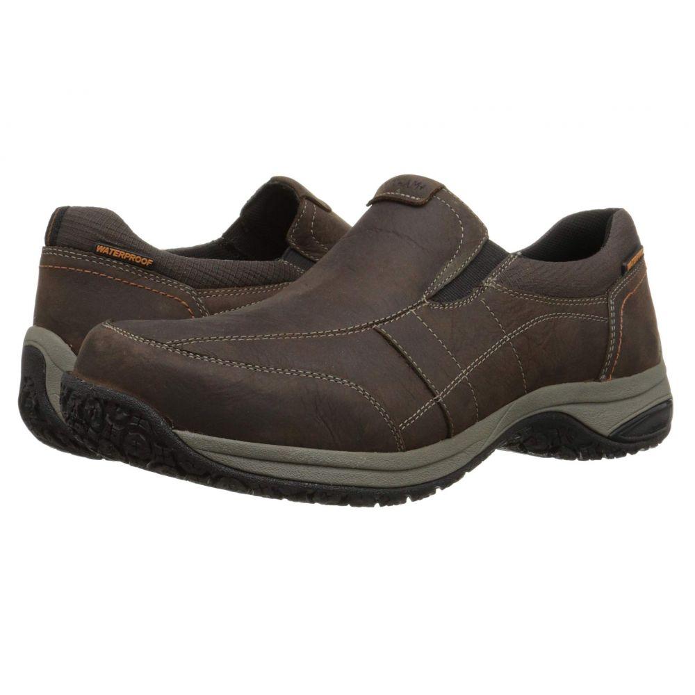 ダナム Dunham メンズ スリッポン・フラット シューズ・靴【Litchfield Slip-On Waterproof】Brown
