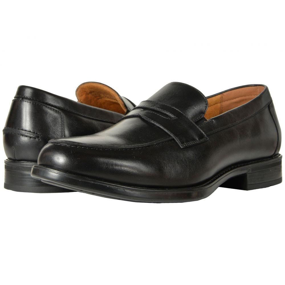 フローシャイム Florsheim メンズ スリッポン・フラット シューズ・靴【Midtown Penny Slip-On】Black Smooth