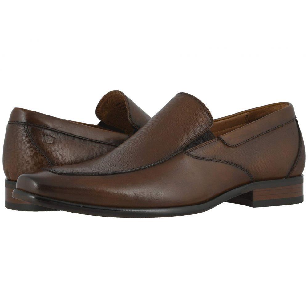 フローシャイム Florsheim メンズ スリッポン・フラット モックトゥ シューズ・靴【Postino Moc Toe Venetian Slip-On】Cognac Smooth/Scratch Print