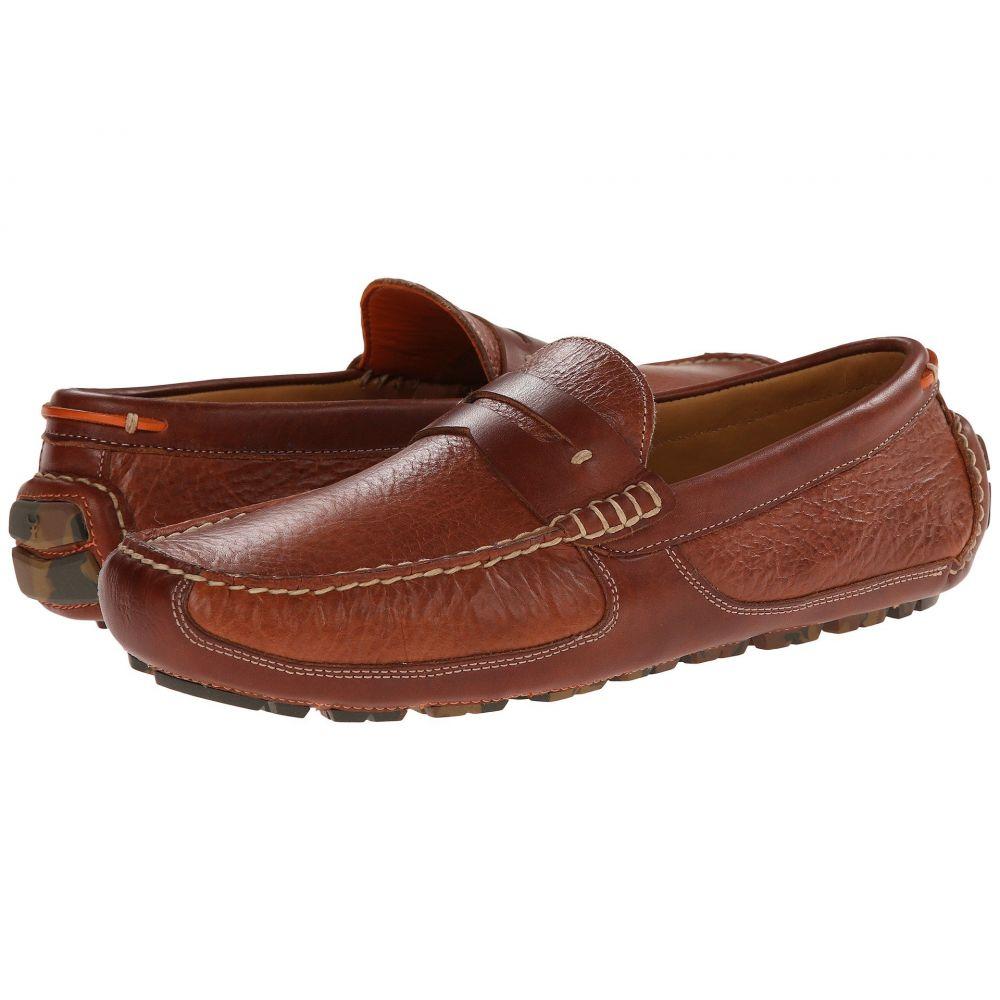 トラスク Trask メンズ ローファー シューズ・靴【Derek】Saddle Tan American Bison