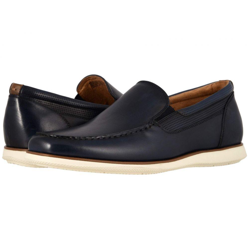 フローシャイム Florsheim メンズ スリッポン・フラット モックトゥ シューズ・靴【Atlantic Moc Toe Venetian Slip-On】Navy Smooth/White Sole