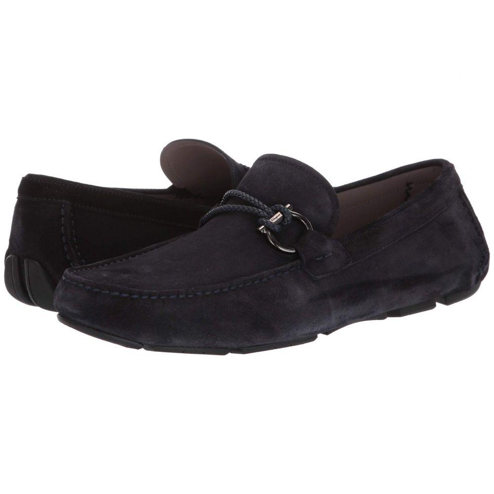 サルヴァトーレ フェラガモ Salvatore Ferragamo メンズ ローファー シューズ・靴【Front 4 Loafer】Dark Blue Suede