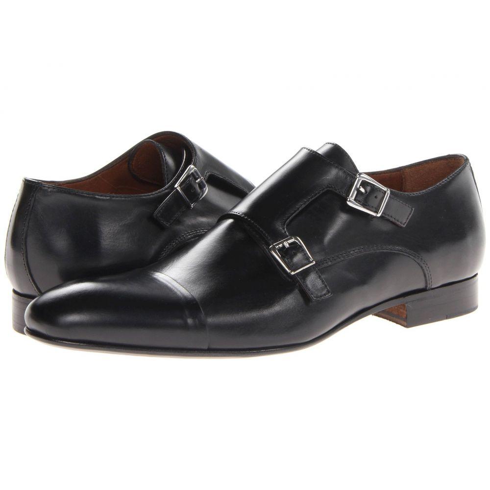 マッテオ マッシモ Massimo Matteo メンズ 革靴・ビジネスシューズ シューズ・靴【Dbl Monk Cap Toe】Black