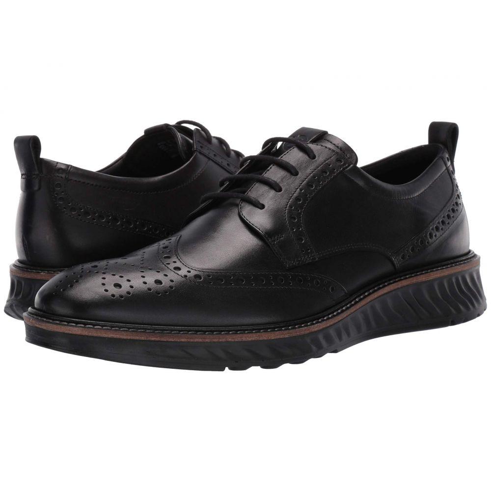 エコー ECCO メンズ 革靴・ビジネスシューズ メダリオン シューズ・靴【ST1 Hybrid Brogue Tie】Black