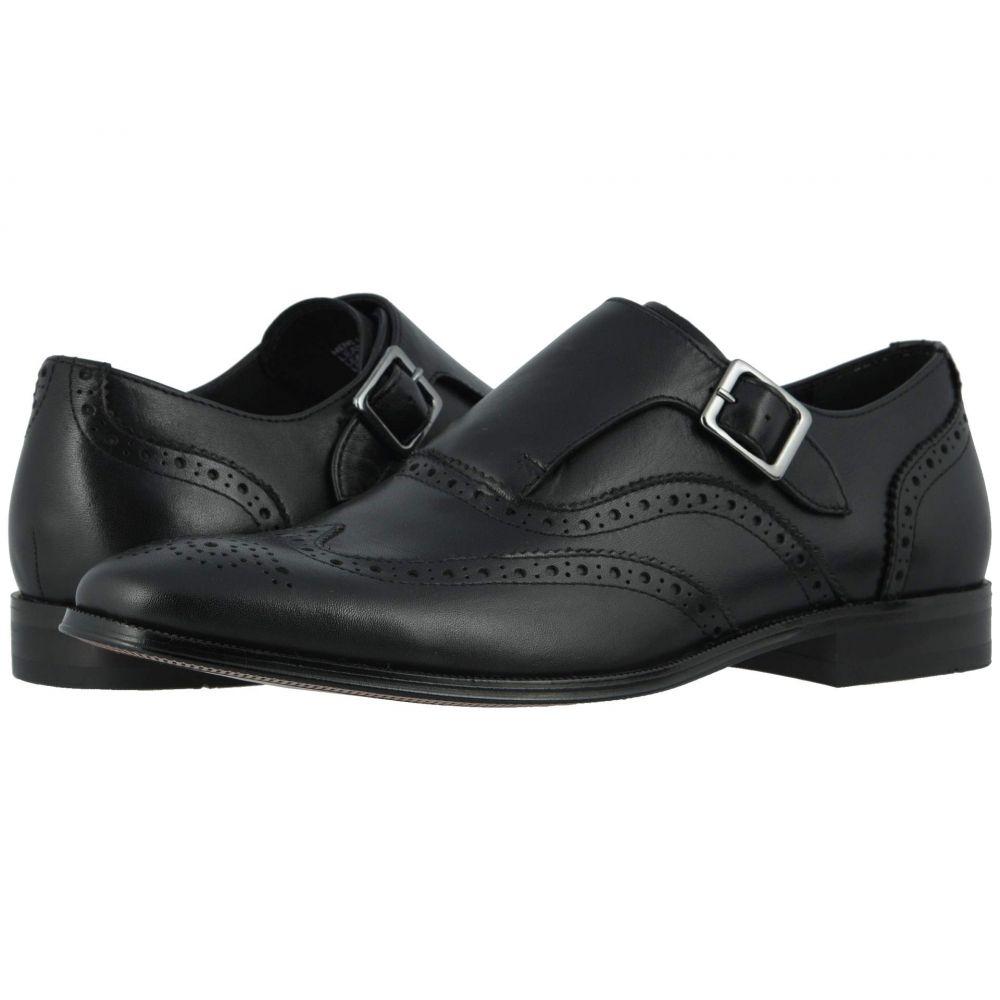 フローシャイム Florsheim メンズ 革靴・ビジネスシューズ ウイングチップ シューズ・靴【Jetson Wing Tip Single Monk Strap】Black Smooth