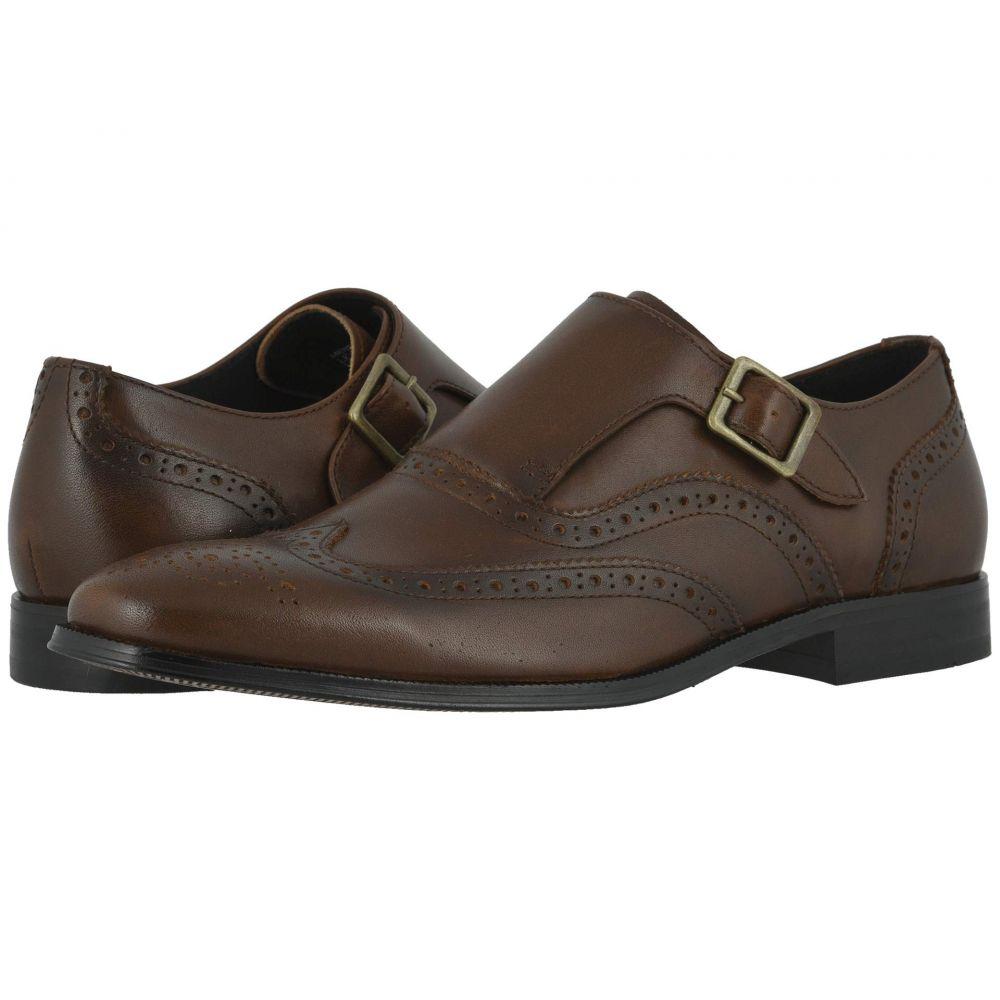 フローシャイム Florsheim メンズ 革靴・ビジネスシューズ ウイングチップ シューズ・靴【Jetson Wing Tip Single Monk Strap】Cognac Smooth