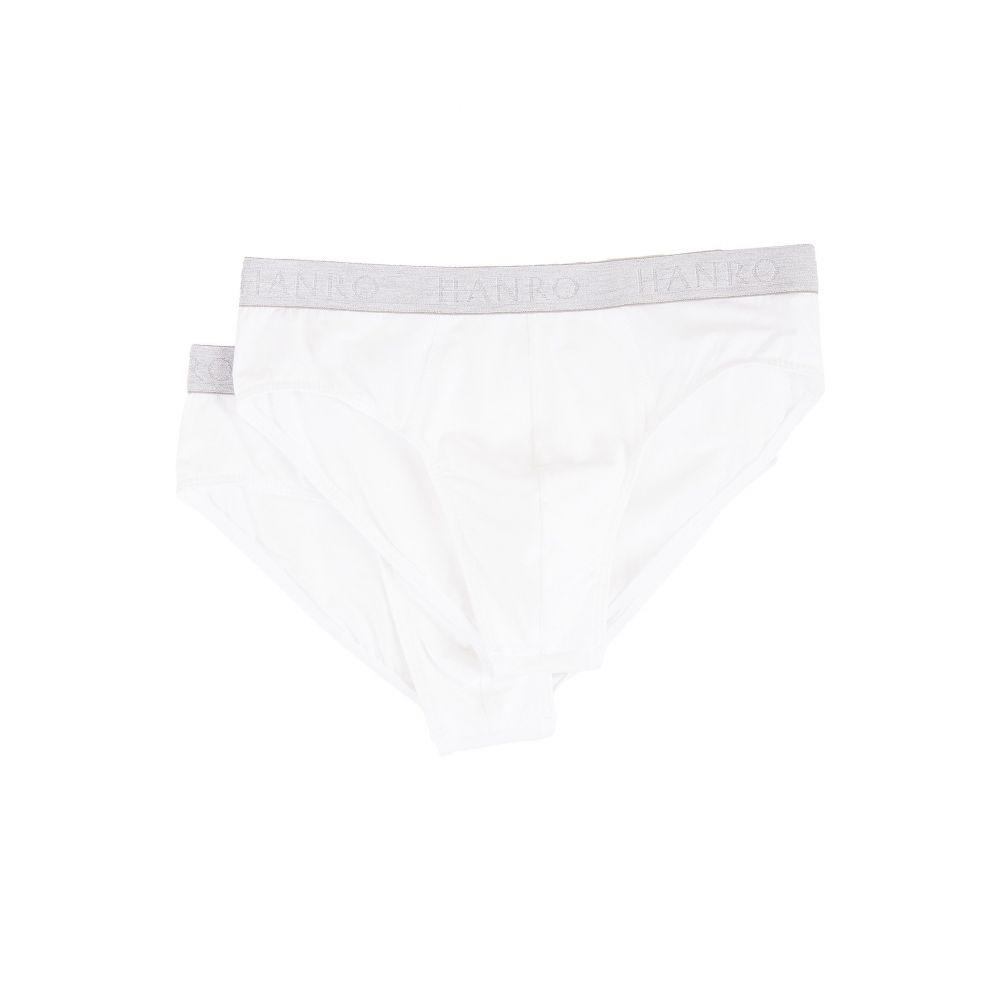 ハンロ Hanro メンズ ブリーフ 2点セット インナー・下着【Cotton Essentials 2-Pack Brief】White